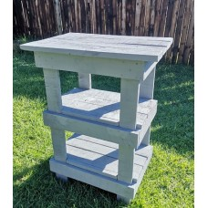 White Washed Bench